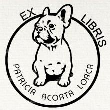 Ex Libris Perro Bulldog