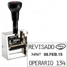 Numerador Fechador ND41A  Medida: 45 x 25 mm