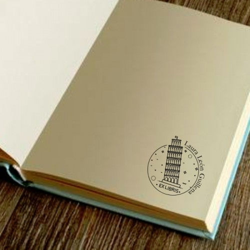 Libro Sello Torre de Pisa