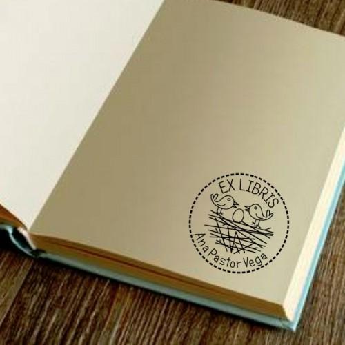 Libro sello dos pajaritos