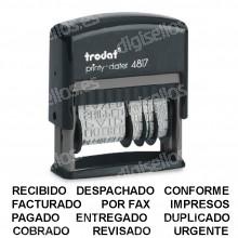 Fechador Trodat Printy 4817 Medida: 47 x 5 mm