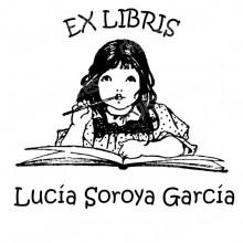 Ex Libris fille étudie