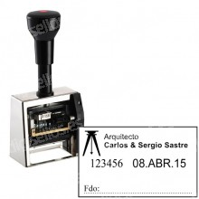 Numérateur Closer ND53A-6 Taille: 50 x 30 mm