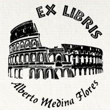 Ex Libris Gatto Sotto la Luna