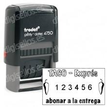 Numerador Trodat Printy 4846 Medida: 41 x 24 mm