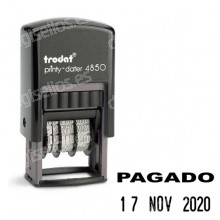 Fechador Trodat Printy 4850 Medida: 25 x 14 mm