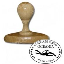 Manual do Selo - Medida: 40 x 30 milímetros oval