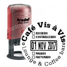 Fechador Trodat Printy 46145 Medida: 45 mm Ø