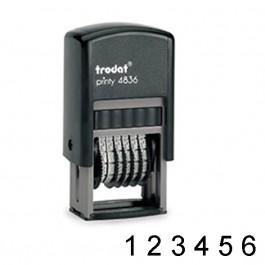 Numerador Automático 6 cifras sin placa