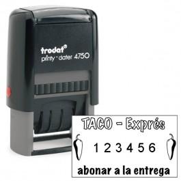 Numerador Automático 6 cifras con placa incluida